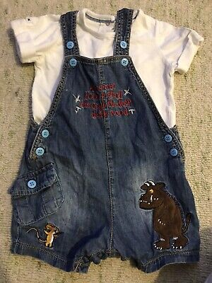 Tu dungaree Shorts Outfit Gruffalo 3-6 Months Summer Boys Girls So Cute On