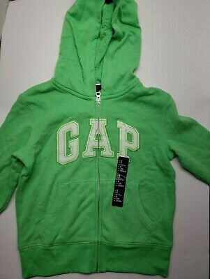 Gap Kids Green Zip Logo Girls Applique Pullover Arch Hoodie Sweatshirt. Size S