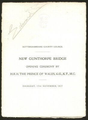 King Edward Viii - Program Signed