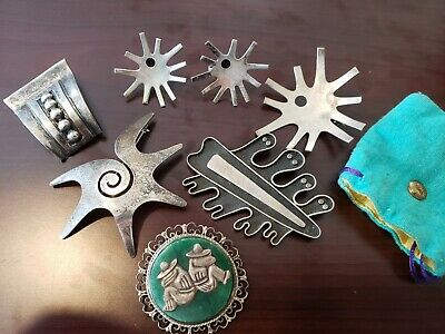 Mexican Signed Sterling Silver .925 Lot, Taxco 80+grams - Earrings, Brooches etc