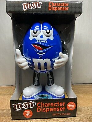 Blue Skeleton Halloween M&M's Character Dispenser M&M's Candy Stand Up Official