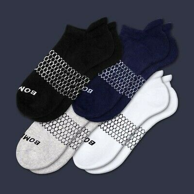 BRAND NEW Bombas Socks Men's Solid Ankle 4 Pack - Large - FREE SHIPPING!!!