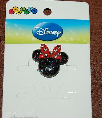 Shoe Charm JIBBITZ Holographic Glitter Minnie Mouse Disney Rare Limited