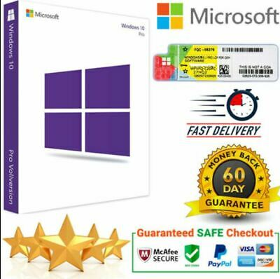 WINDOWS 10 PRO PROFESSIONAL WIN 10 32 /64 BIT ACTIVATION KEY - Fast DELIVERY