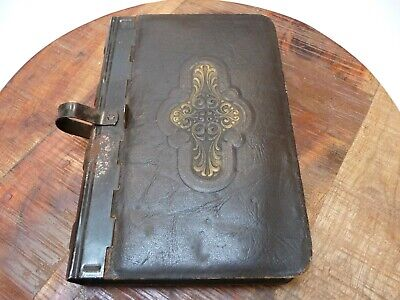Vintage Tin Leather Book Box
