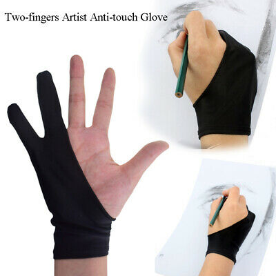 Two-fingers Artist Anti-touch Gloves for Drawing Tablet Anti-Fouling ipad Screen