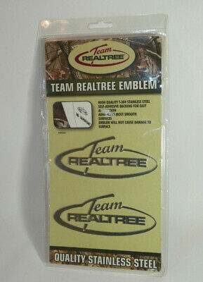 Team Realtree Emblems Stainless Steel Self-Adhesive 2 Pack NEW
