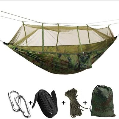 Portable Camping Mosquito Net Hammock Tent Nylon Double Hanging Bed Swing Chair