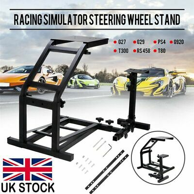 Racing Simulator Steering Wheel Stand Driving Gaming for G29 G920 T300RS T80 UK