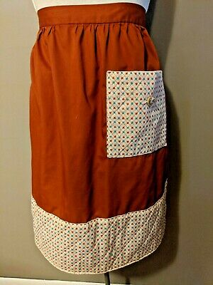 Brown Farmhouse Vintage Half Apron