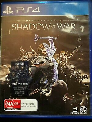 Middle Earth: Shadow of War - PS4 -Action -Lord of the Rings -Free Postage -Used