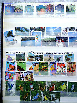 Commonwealth Definitive stamps, QE2, in stock book. All fair to good used.