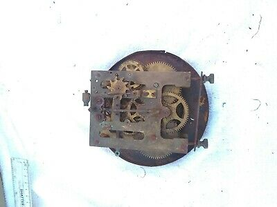6 Vintage Clock Movement  And Distraught Clock Face 6 Inch Diameter