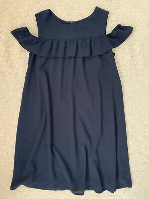Jasper Conran Girls Age 11 Navy Blue Cold Shoulder Dress - Worn Once