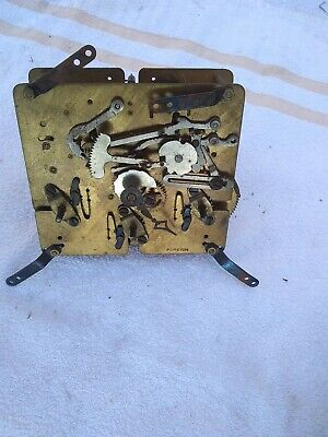 11 Vintage Clock Movement   No Maker Foreign 12 X 12 Cm All  3 Wind 4 Chomes