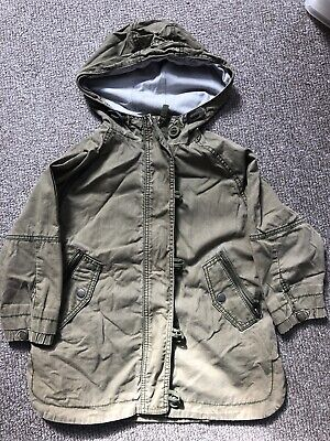 Next Girl Khaki Lightweight Parka Spring Coat Age 5 Years