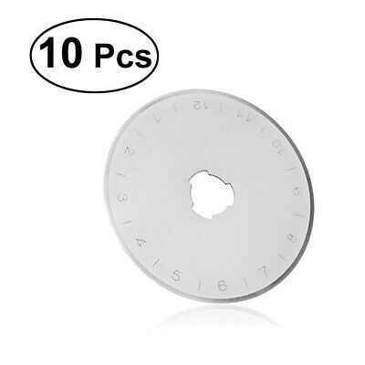10Pcs 45mm Rotary Cutter Blades with Storage Case Circular Cutting Silver