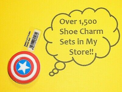 Captain Shield Shoe Charms Shoe Buttons Plugs Decoration Cake Toppers  auction