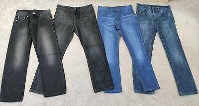 4 Pairs of Boys Black And blue Denim Jeans Age 11-12 Regular-Slim Fit BNWOT