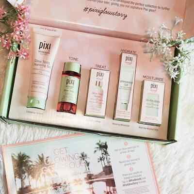 "Pixi Beauty ""Glow Collection"" PR BOX kit cosmetici bio skintreats INTROVABILE"