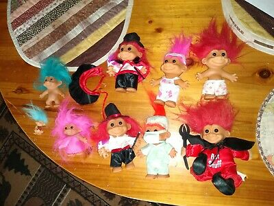 Vintage Russ Troll Dolls Lot Of 9 /8 different