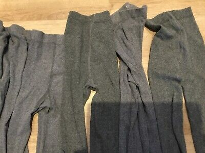 Marks And Spencer 7 Pair Of Girls grey School Tights Age 9 - 10 Years