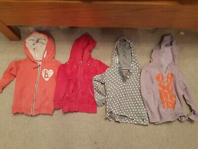 4 Girls Hoodies (2 Next And 1 M&S Age 4-5) Age 3-4