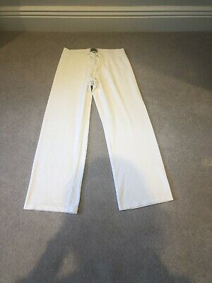 Womens White Velour Juicy Couture Tracksuit Bottoms Large