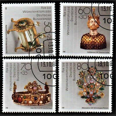 OLD STAMPS GERMANY 1988 cv£7.00 PRECIOUS METAL WORK FULL SET USED NEVER HINGED