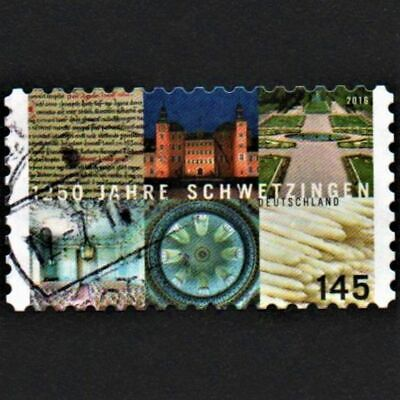 OLD STAMP GERMANY 2016 cv£9.00 ANNIVERSAY THE CITY OF SCHWETZINGEN USED UNH