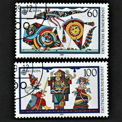 OLD STAMPS GERMANY 1989 cv£1.35 GERMAN CHILDREN'S TOYS FULL STAMP SET UNH