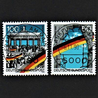 OLD STAMPS GERMANY 1990 cv£2.80 BERLIN WALL OPENING ANNIVERSARY USED UNH