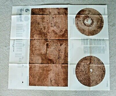 """USGS Topographic Map of Mars, 1976, MAP I-961, 36""""x42"""""""