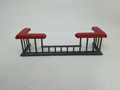 Dollshouse 1/12th scale Fireguard with red leather top
