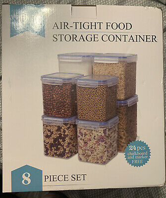 VTOPMART air-tight food storage container set of 8 Various Sizes - Free Shipping