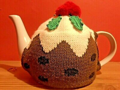 Christmas Pudding Tea Pot and Cosy Cover