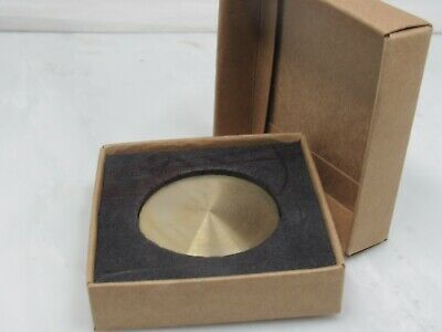 "Stunning High Quality Solid Brass 98G 2"" Diameter Paper Weight In Gift Box"