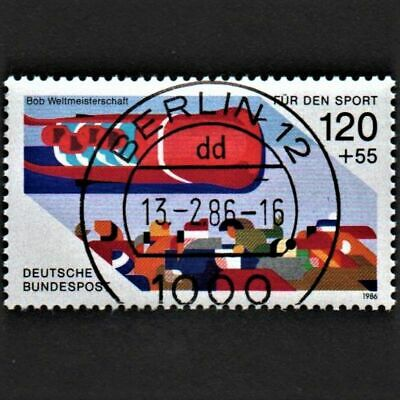 OLD STAMP GERMANY 1986 cv£4.25 SPORT PROMOTION FUND BOBSLEIGH USED