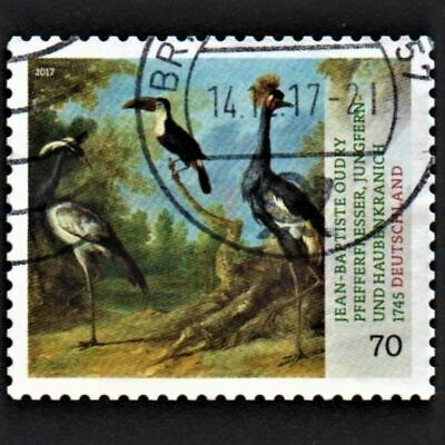 OLD STAMP GERMANY 2017 cv£4.25 TREASURES FROM GERMAN MUSEUMS USED UNH