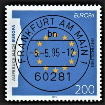 OLD STAMP GERMANY 1995 cv£3.00 EUROPA PEACE AND FREEDOM USED UNH
