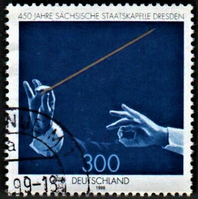 OLD STAMP GERMANY 1998 cv£4.50SAXON STATE ORCHESTRA ANNIVERSARY, DRESDEN USED