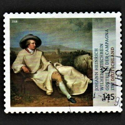OLD STAMP GERMANY 2018 cv£9.00 TREASURES FROM GERMAN MUSEUMS USED UNH