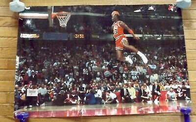 "1988 MICHAEL JORDAN WHEATIES POSTER SLAM DUNK CONTEST MVP NIKE 23"" x 16"""