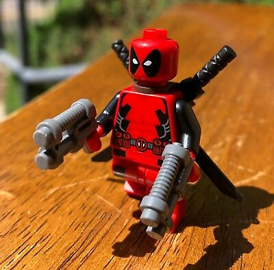 Lego Marvel Super Hero X-Men Deadpool Genuine Minifigure Only From Set 6866 Hot!