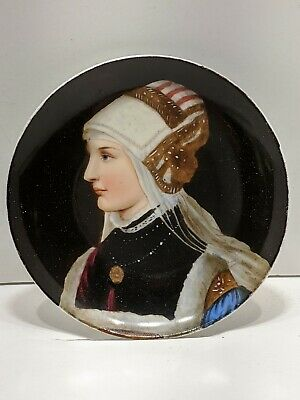 Antique 3½ Portrait Plate Hand Painted Cabinet Plate Beautiful Woman