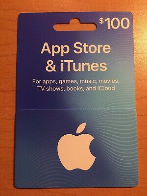 $100 Apple App Store & iTunes Physical Gift Card