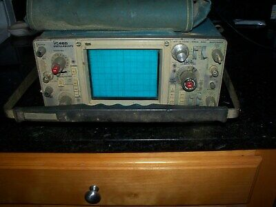 TETRONIX 465 100 MHz DUAL CHANNEL ANALOG  OSCILLOSCOPE WITH MANUAL