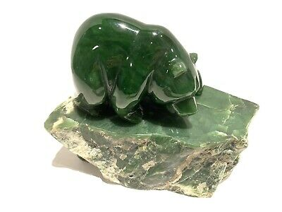 Beautiful Canadian Inuit Jade Carved Bear