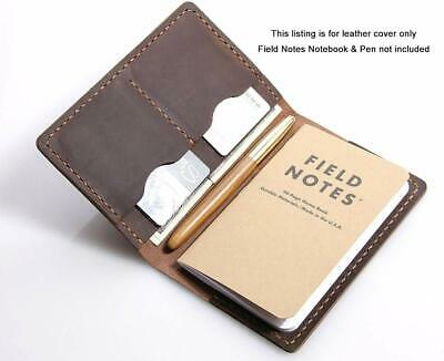 "Leather Journal Field Notes Moleskine Leather Cover 3.5 x 5.5"" size notebook"
