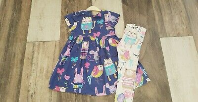 Girls Sweet Pea Range Dress And Leggings Age 4-5  from Next - Good Condition